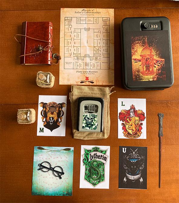 pruebas y puzzles de una escape room de magia